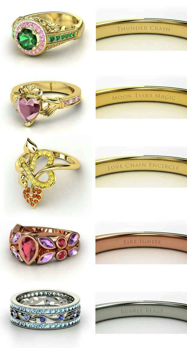 Win your little Sailor Scout with one of these beautiful Sailor Moon rings.