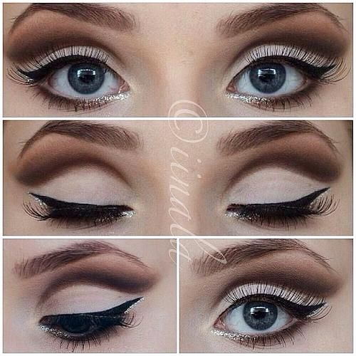4. Emphasize your crease. Use a lighter eyeshadow as your base and define your crease with a color one or two shades darker. Brush outwards to soften the look. Or go for a cut crease!