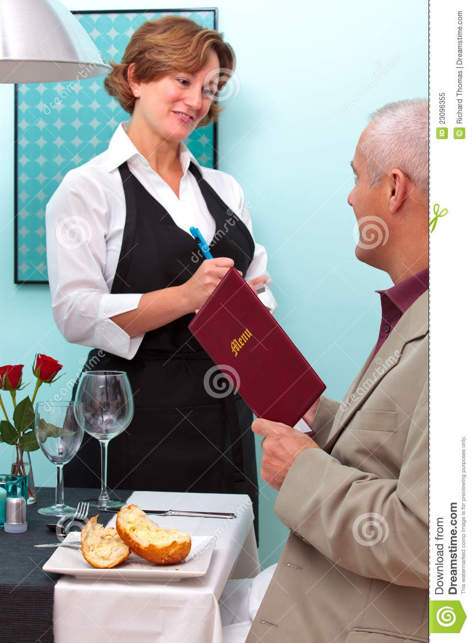 The menu is one of the dirtiest object a costumer handles in the restaurant