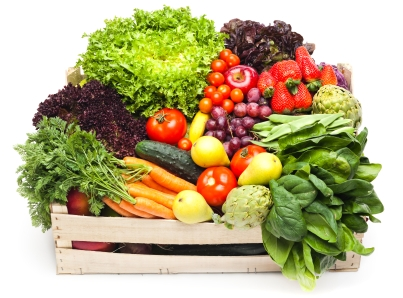 eat more veggies with your meals they help your bodys digestive system