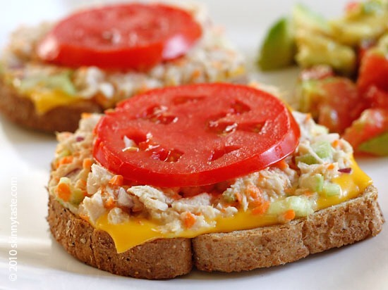 3. Tuna Melt 900 calories  50 g fat   Eat this instead!  Roast beef or ham sandwich 500 calories  15 g fat