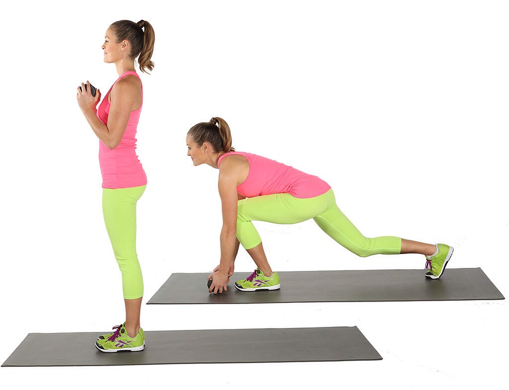 30 deep lunges (each leg) 60 all together-Maximus  Legs,glutes, and waist