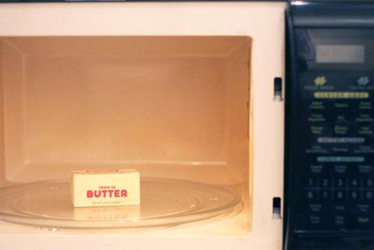 9. Soften butter in the microwave — the right way.