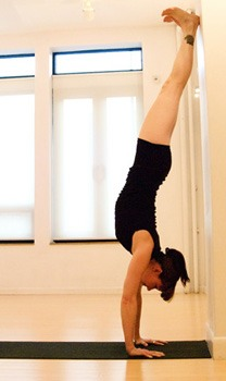 If you have the space, doing handstands against a wall helps you practice the form and helps you practice holding it! Make sure to point your toes (not because I'm a gymnast😂 it actually helps balance) and don't arch your back. It makes it harder to hold the handstand.