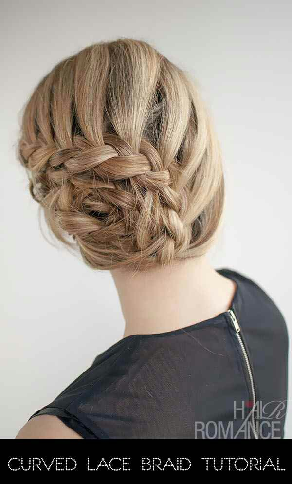 Curved laced braid.