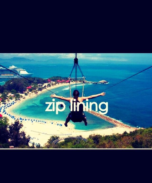 Go zip lining across a beach