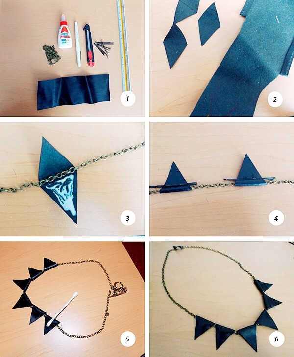 Very simple, use some felt or paper or leather  or whatever materials you have and cut out the shapes you want and glue it :) will only take a few minutes! And it will make a statement!