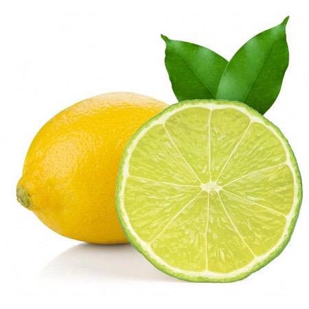 Half of a lemon or lime. There juice has acid that reduce pimples!