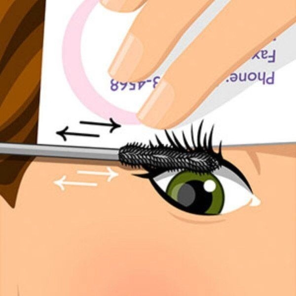 Get mascara on your eyelid? Use a business card, that way it gets onto the card not your lid