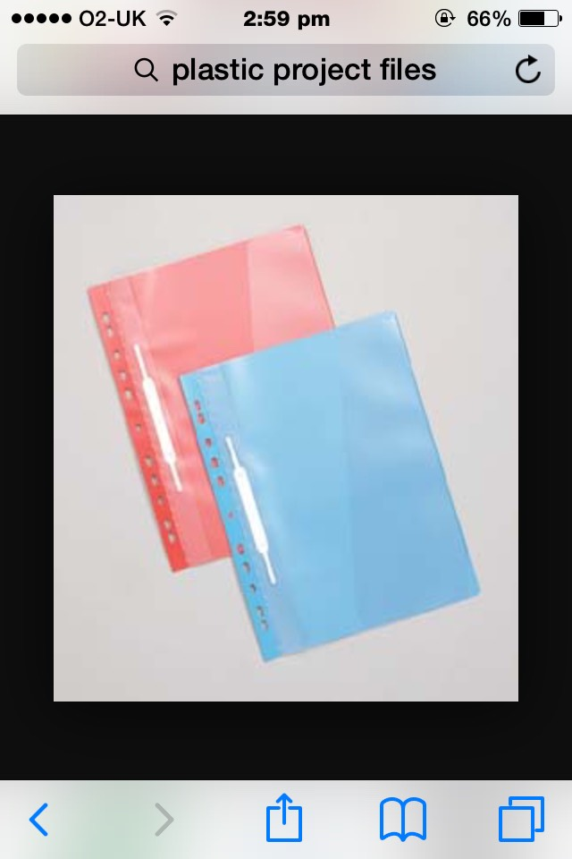 Too keep all your revision notes organised and safe I recommend that you should use these see through plastic files they will keep everything in tact!📒