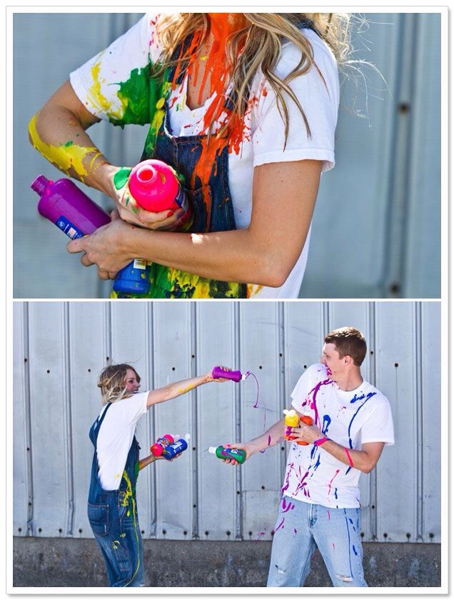 paint war and get pictures taken at the same time