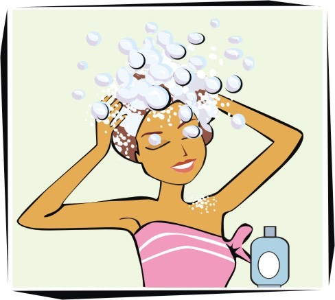 Shampoo the hair, make sure you have bubbles