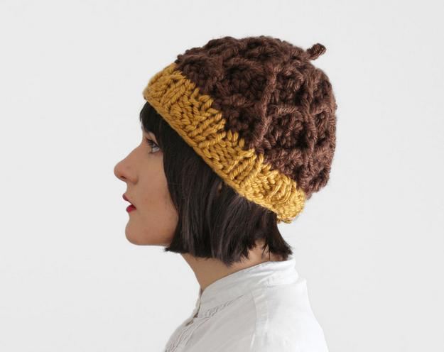 8. A cozy knit acorn cap to keep your head warm.  https://www.etsy.com/listing/224613039/acorn-hat-knit-and-crochet-chunky-hat?source=aw&utm_source=affiliate_window&utm_medium=affiliate&utm_campaign=us_location_buyer&utm_content=181013