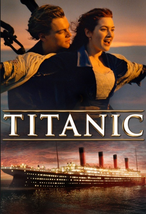 Titanic This movie is a sad romantic action-ie drama, it's also a true story, it's my favourite movie of all time. It's oldish too but it's a classic. I love this movie, a must see