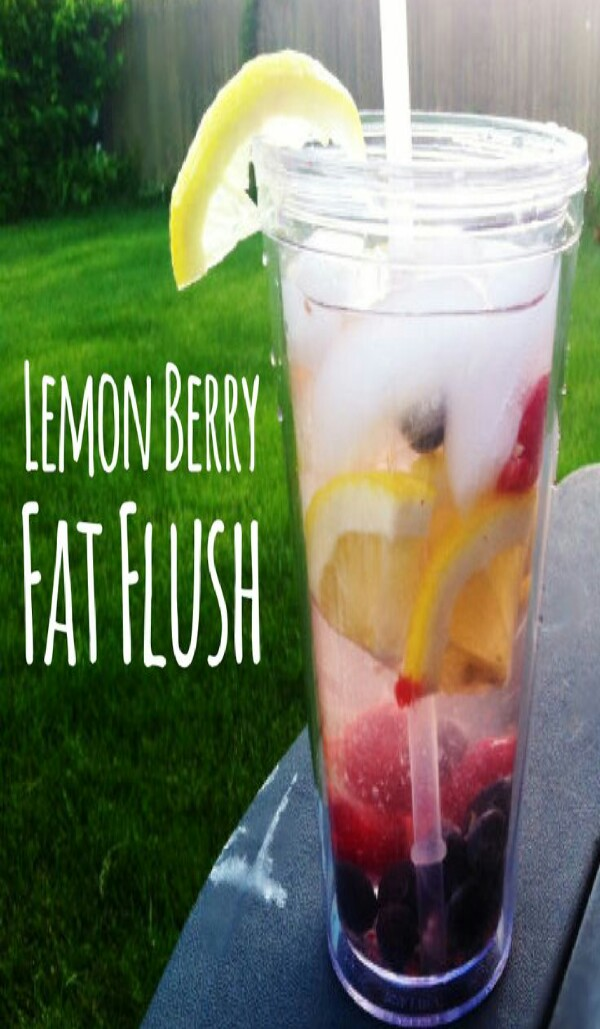 blueberries,  strawberries, and lemon
