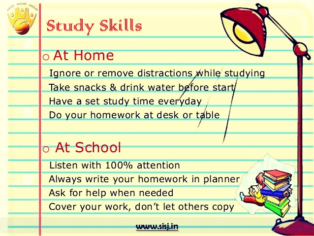 Studying in school and home will help you  do well in your test and get the grades you want.