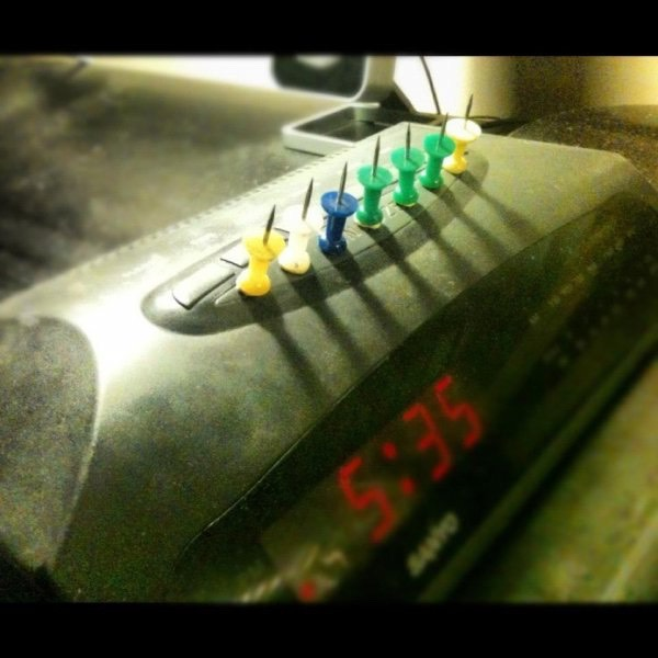 Alarm Clock Hack Simply line the coveted Snooze button with some taped-down thumbtacks. The morning shot of pain will get youup and out of bed quicker than a popcorn smoke alarm.