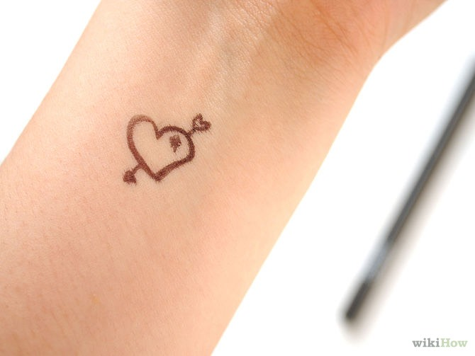 And there you have it! Your own temporary tattoo! 👌