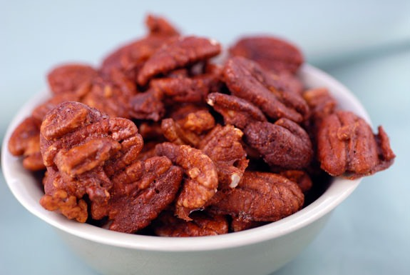 Keep your freezer stocked. Spiced nuts are quick and easy to whip up, and they last for months in the freezer. Make them in advance so they're handy when guests drop by.