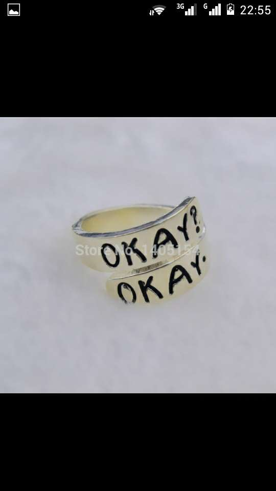 Fans of the famous book now movie Fault In Our Stars? This ring is perfect for you