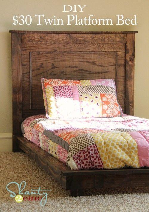 Build this children's bed  http://ana-white.com/2012/02/plans/fillman-platform-headboard