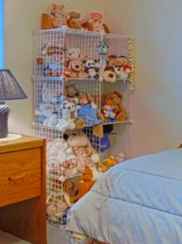 A Cute Way To Store Stuffed Animals!