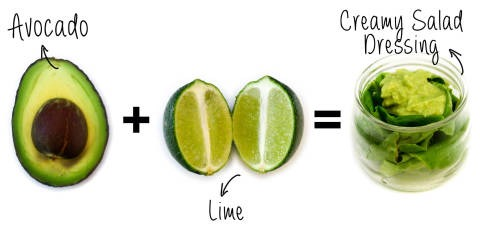7. Avocado + Lime = Creamy Salad Dressing