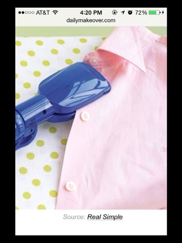 Small creases in a top or shirt? Not got an iron? Use your hair straighteners to flatten out the crease.