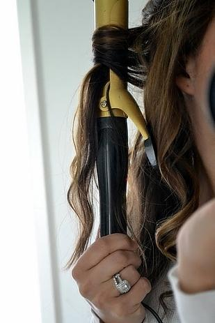 start from the middle not the ends  this makes the curls last way longer.