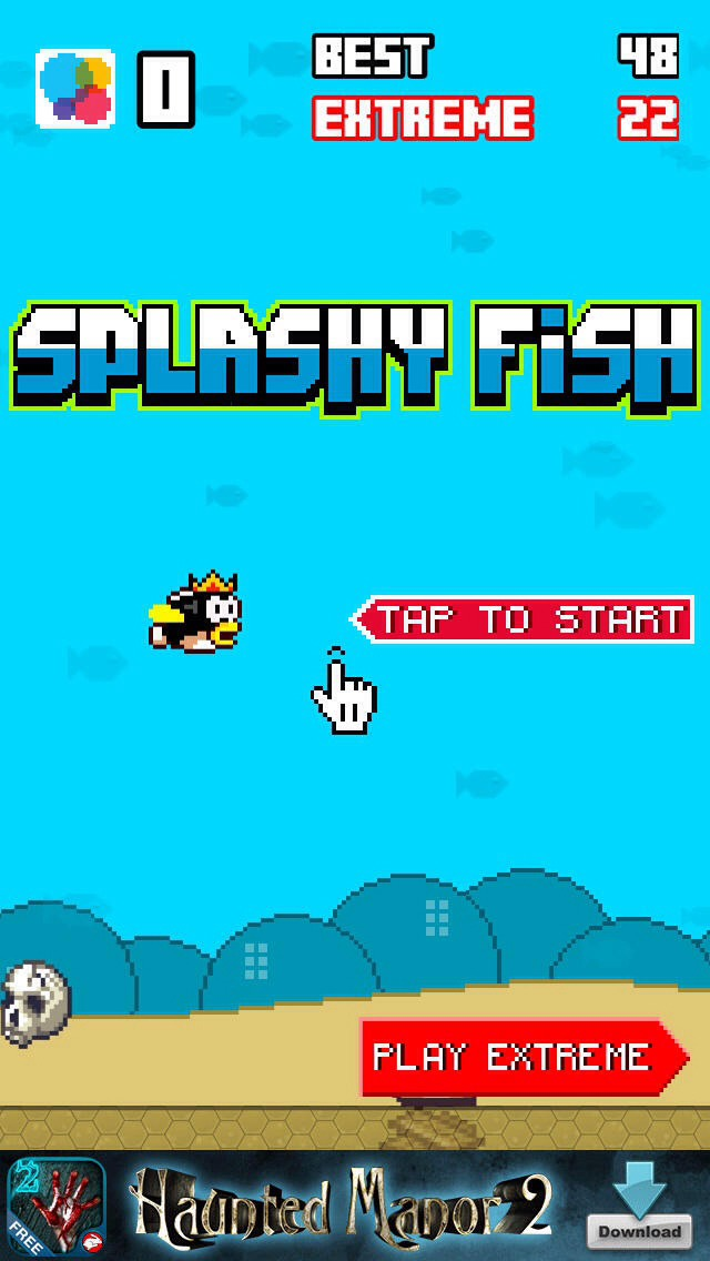 One game that is similar to flappy bird is splashy fish witch you can get off the App Store however splashy fish is much slower than flappy bird