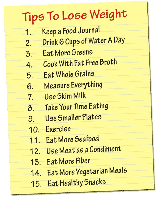 14 WEIGHT LOSS TIPS.