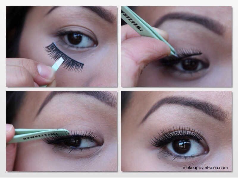 Step 3: Grab your tweezers and apply those fellas on.
