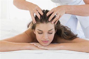 Get a scalp massage to increase blood flow 💆