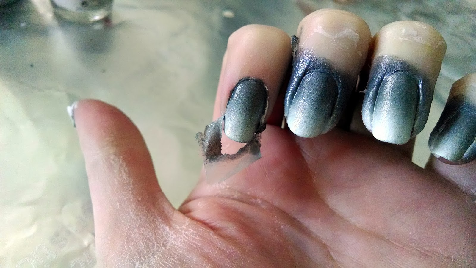 how to take nail glue off fingers