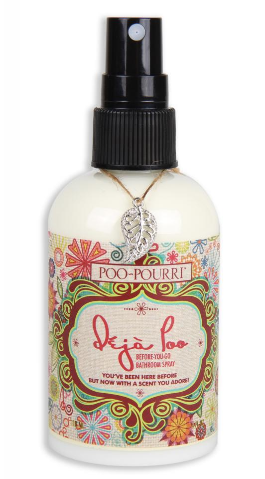 Use poo-pourri!  Before you do your business, spray some on the water and the washroom won't stink up.  This is especially useful when you're at your boyfriend's place. :)