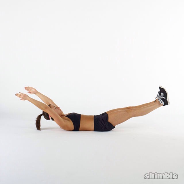 Hold for 1 minute The first time you do this workout you may need to start with 30 seconds and slowly build up from there.