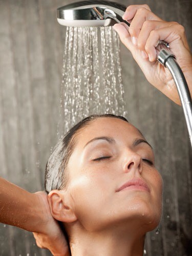 Leave oil on for 30 min or overnight, then rinse out with JUST shampoo