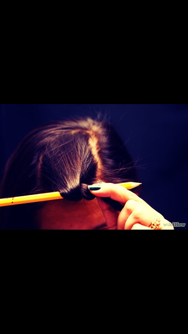 Wrap your hair around the pencil, for tighter curls make sure there is no gap between the wraps