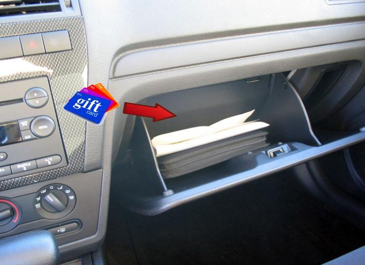 Gift Card Stash Throw a couple gift cards in your car to your favorite local place or a Starbucks. That way, if you ever need a quick gift, you have one handy! Get stuck and need help? Grab a gift card and give it to your savior! Get snowed in and need a quick gift for a friend? Boom, gift card!