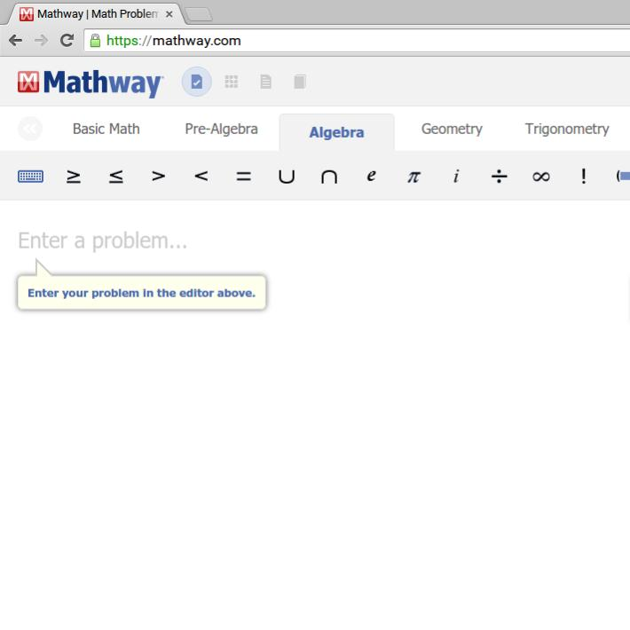 You can type any problem into mathway.com and it'll give you the answer.