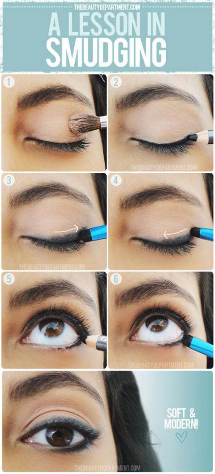 6. Learn how to perfectly smudge your liner to get it a slightly lived-in look without being messy
