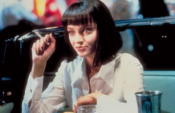 "Uma Thurman in Pulp Fiction, 1994 ""Uma Thurman's black, blunt cut bob in Pulp Fiction needs no explanation. What would Mia Wallace be without it?""  —Catherine Piercy, Vogue.com Beauty Director"