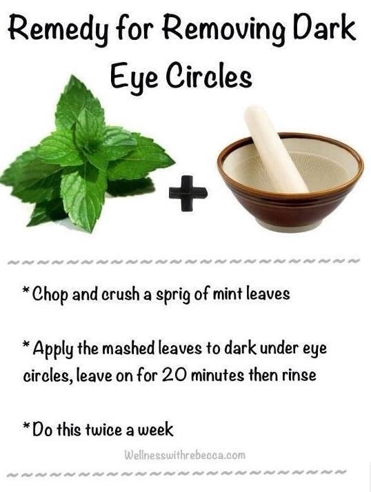 A paste of fresh mint leaves applied on the dark circles for 20 minutes and rinsed away gently, for a period of 4-5 months will show a difference.