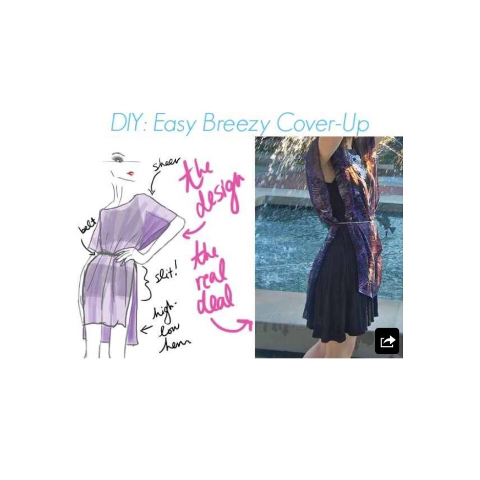 Sheer Breezy Top  http://www.collegefashion.net/fashion-tips/diy-tutorial-easy-breezy-cover-up/