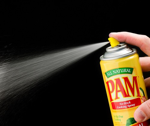 Use Pam spray after painting your nails so they dry instantly.