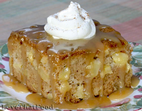 This classic old-fashioned apple cake is easy to make and keeps well. It uses these readily available ingredients that you probably already have on hand
