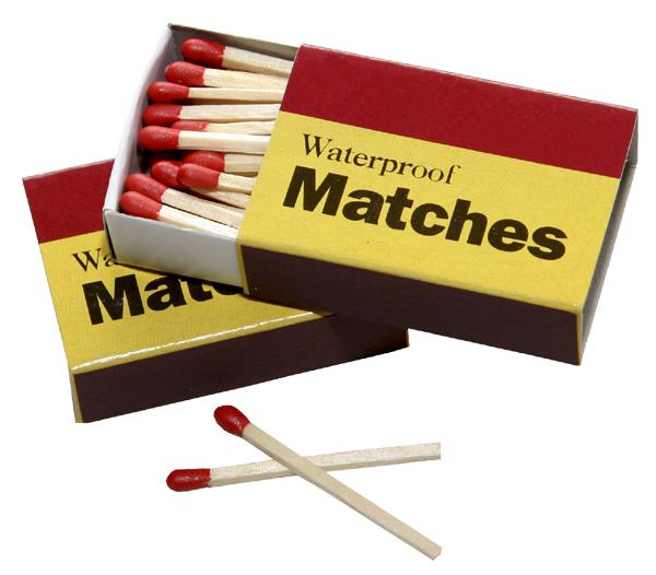 16. Matches  Ladies need to do their business, too, but if you're worried about ruining a good night with bathroom odor, bring a box of matches. Light two matches at once, let them burn for about 10 seconds, and then blow them out, waving the smoke around like you're at Burning Man.