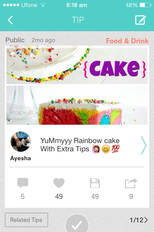 Try out my yummy rainbow cake recipe