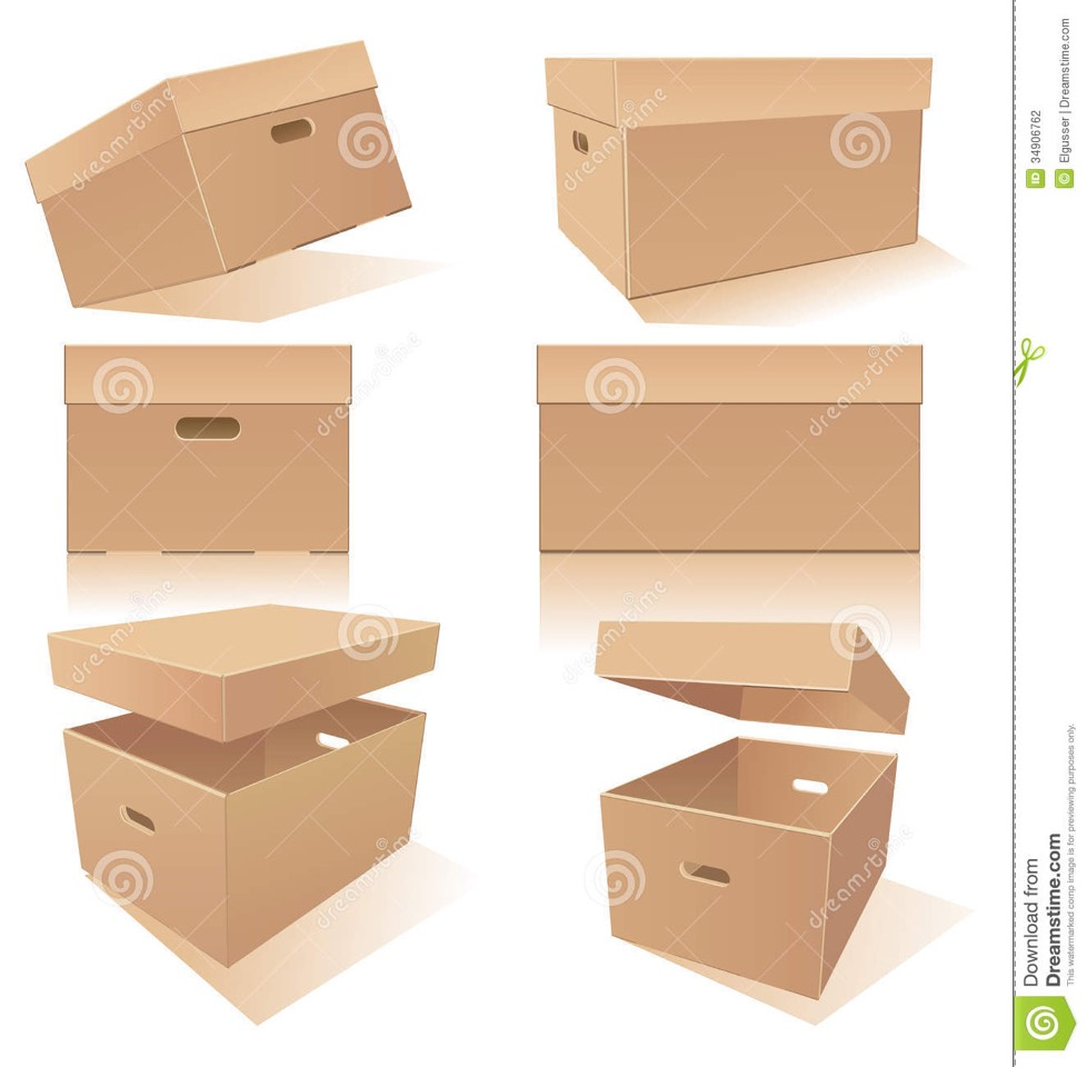 Cut handles into your boxes for easier lifting