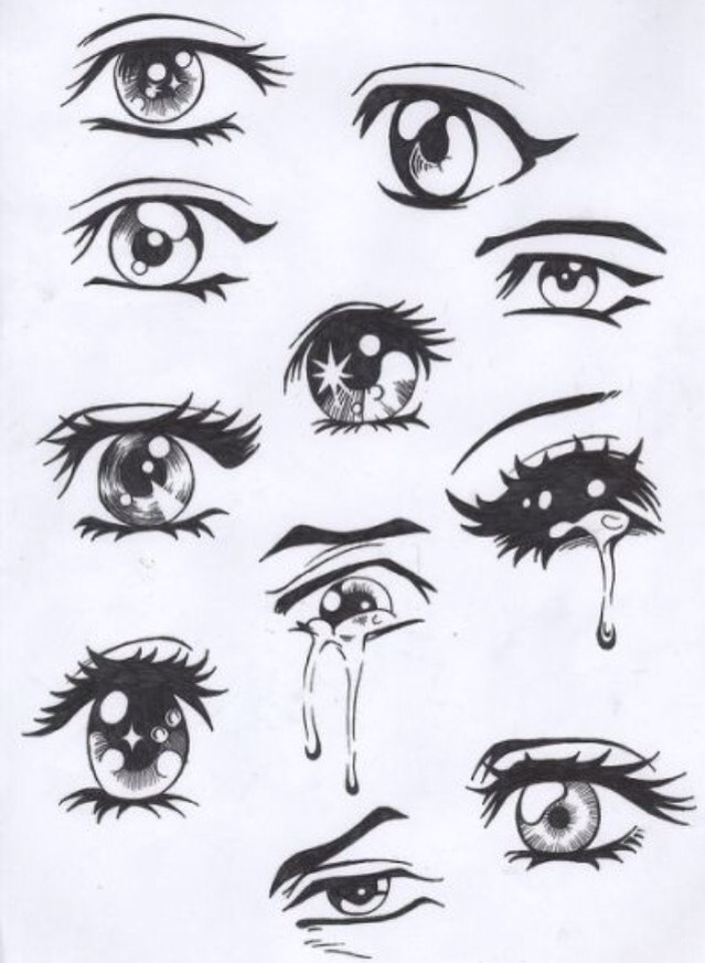 Anime Eyes To Draw By Haley Martinez Musely